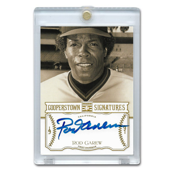 Rod Carew Autographed Card 2013 Panini Cooperstown Signatures Ltd Ed 100