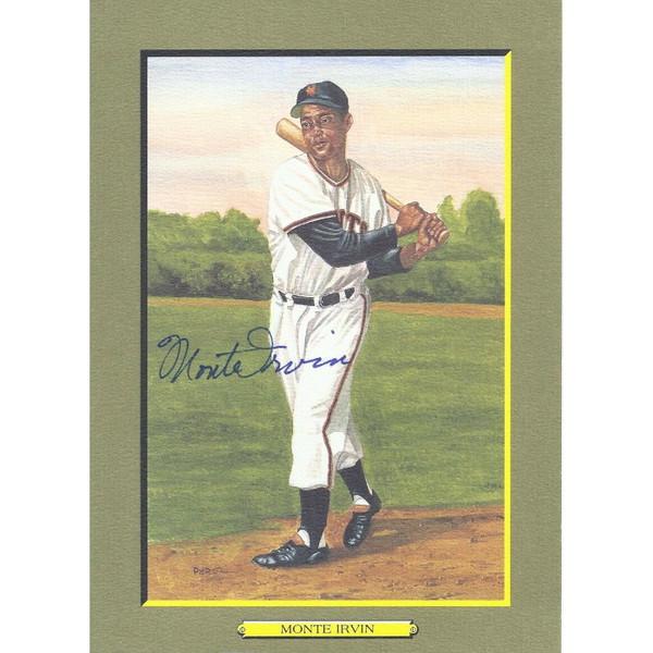 Monte Irvin Autographed Perez-Steele Great Moments Jumbo Postcard # 27 (Beckett-59)