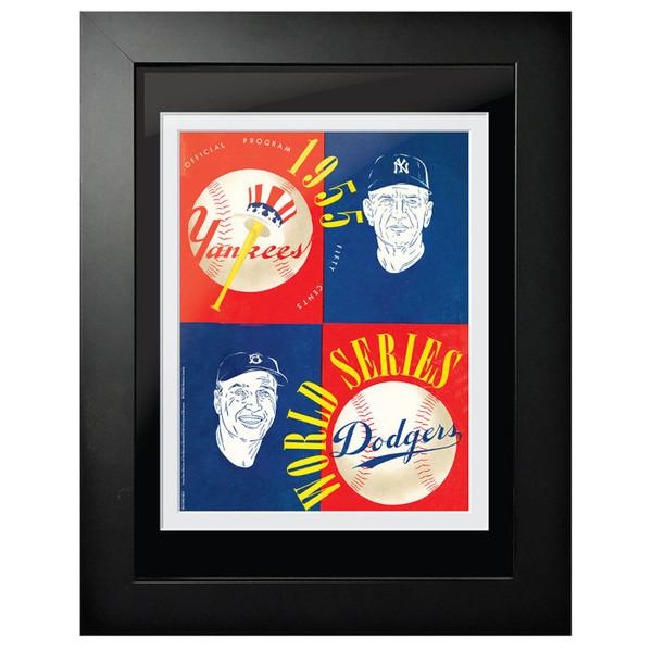 1955 World Series Program Cover 18 x 14 Framed Print