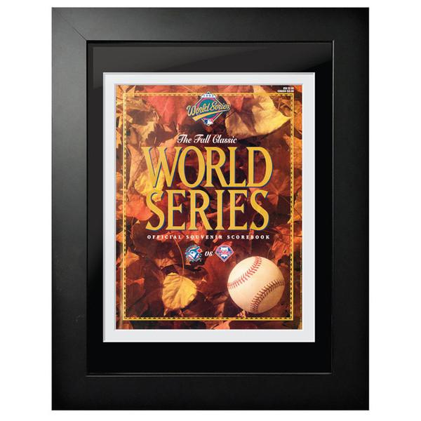 1993 World Series Program Cover 18 x 14 Framed Print