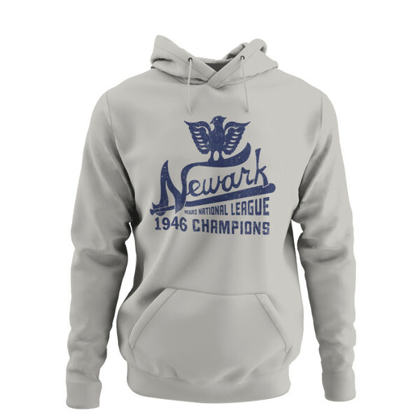 Unisex Teambrown Champions 1946 Newark Eagles Premium Light Grey Hooded Sweatshirt