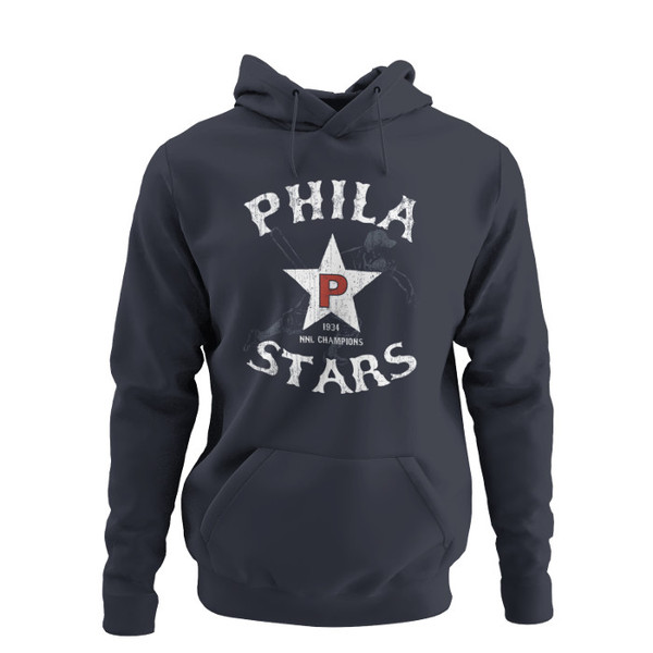 Unisex Teambrown Champions 1934 Philadelphia Stars Premium Navy Hooded Sweatshirt