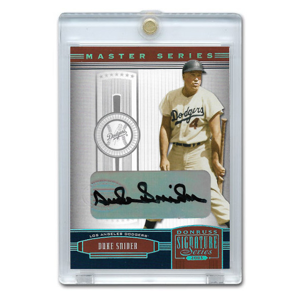 Duke Snider Autographed Card 2005 Donruss Signature HOF Master Series # 61 Ltd Ed of 25