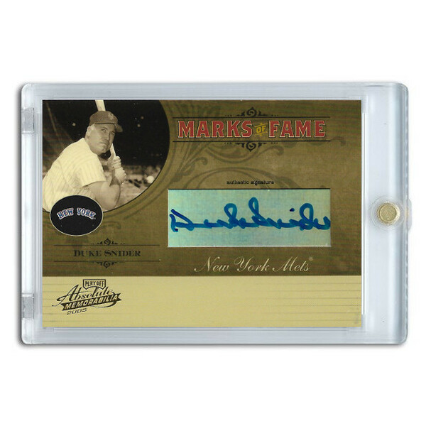 Duke Snider Autographed Card 2005 Playoff Absolute Marks of Fame Ltd Ed of 150