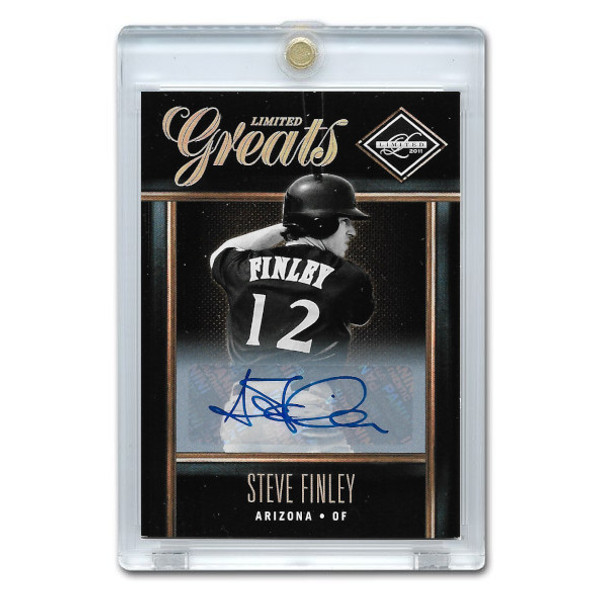 Steve Finley Autographed Card 2011 Leaf Limited Greats Ltd Ed of 499