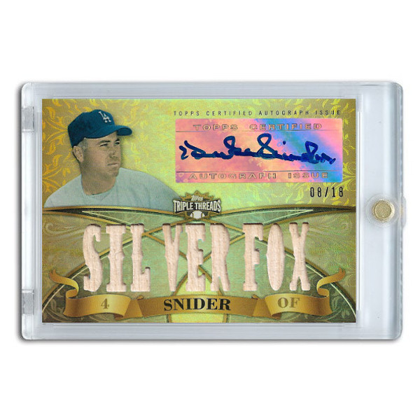 Duke Snider Autographed Card 2013 Topps Triple Threads Relic #DSN2 Ltd Ed of 18