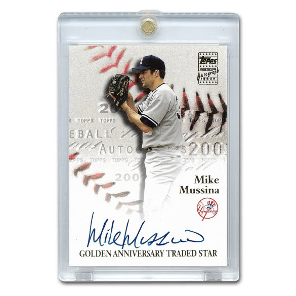 Mike Mussina Autographed Card 2001 Topps Golden Anniversary # GAA-MM