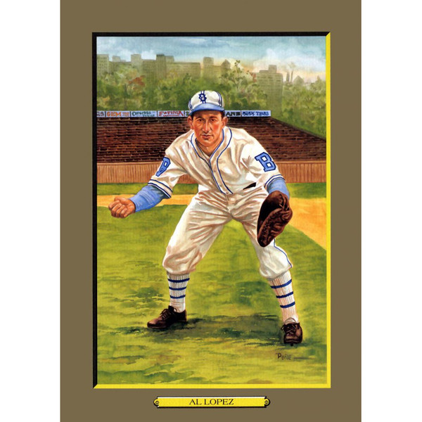 Al Lopez Perez-Steele Hall of Fame Great Moments Limited Edition Jumbo Postcard # 64