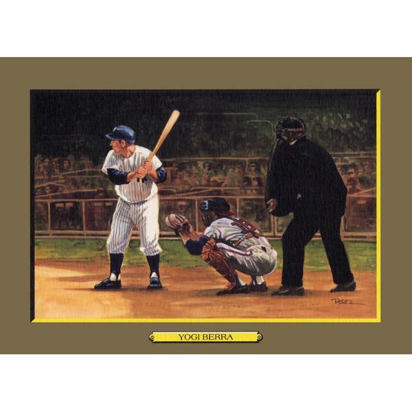 Yogi Berra Perez-Steele Hall of Fame Great Moments Limited Edition Jumbo Postcard # 53