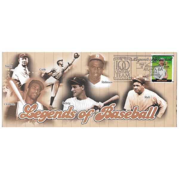 Eddie Collins Legends of Baseball Stamp First Day Cover July 6, 2000
