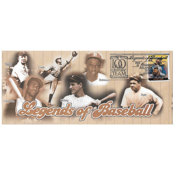 Satchel Paige Legends of Baseball Stamp First Day Cover July 6, 2000