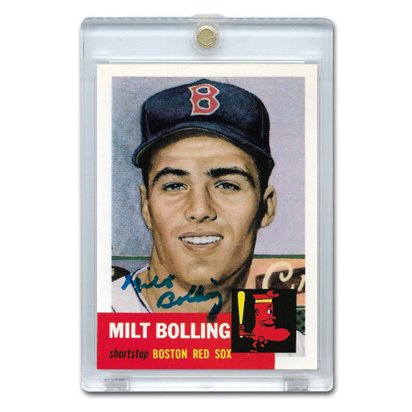 Milt Bolling Autographed Card 1991 Topps Archives '53 # 280 (JSA-55)