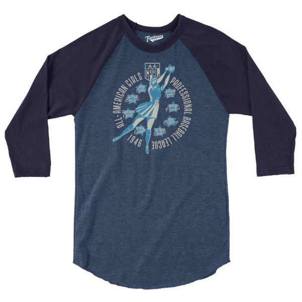 Unisex Teambrown 1946 AAGPBL Longsleeve Baseball Shirt