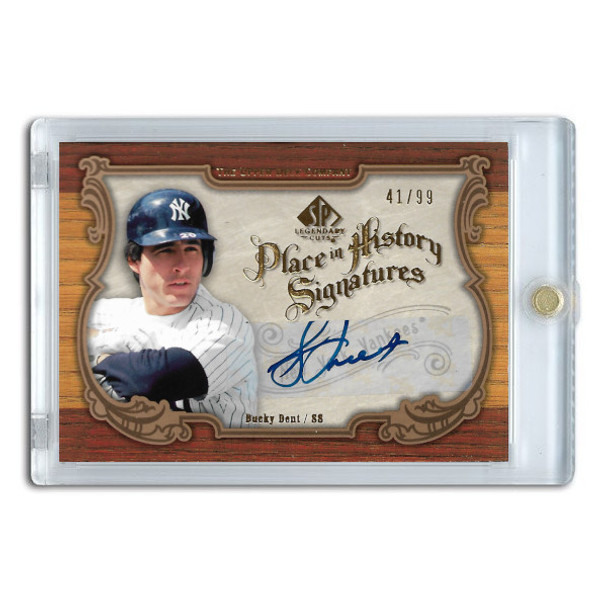 Bucky Dent Autographed Card 2006 SP Legendary Cuts Place in History Ltd Ed of 99