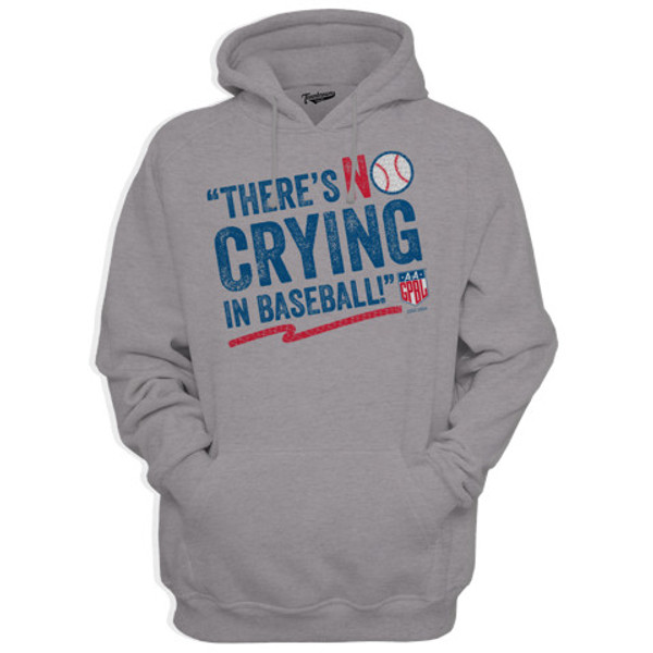 Unisex Teambrown There's No Crying in Baseball AAGPBL Gray Hooded Sweatshirt