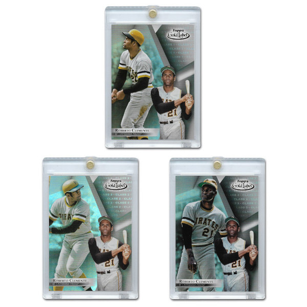 Roberto Clemente 2018 Topps Gold Label Set of 3 Cards
