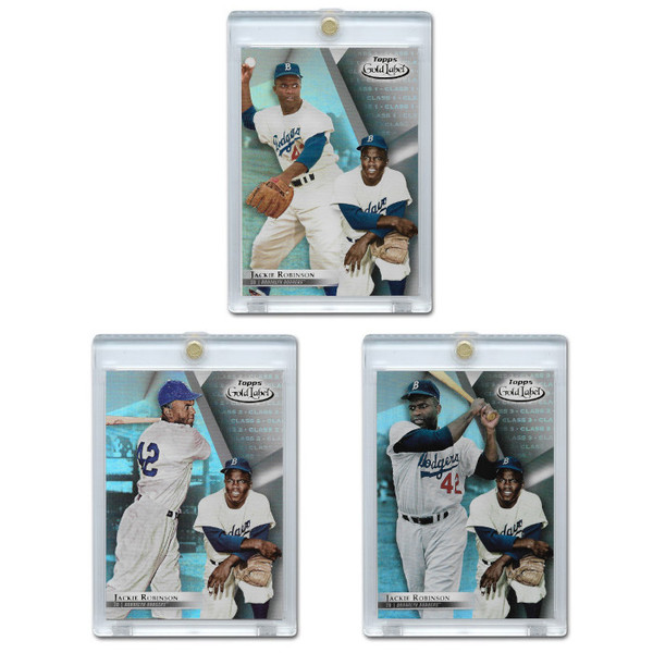 Jackie Robinson 2018 Topps Gold Label Set of 3 Cards