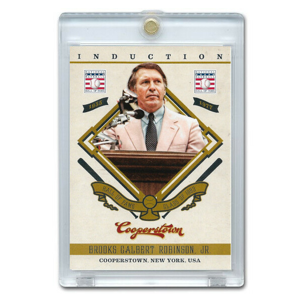 Brooks Robinson 2012 Panini Cooperstown Induction Card # 21