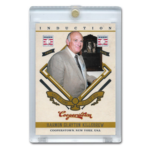 Harmon Killebrew 2012 Panini Cooperstown Induction Card # 4