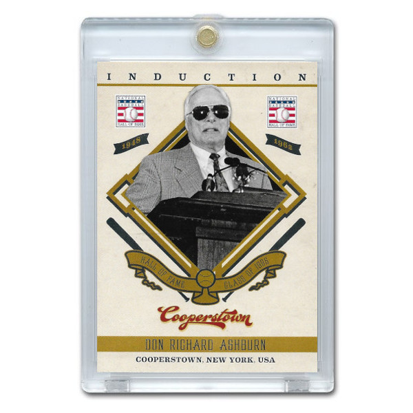 Richie Ashburn 2012 Panini Cooperstown Induction Card # 18
