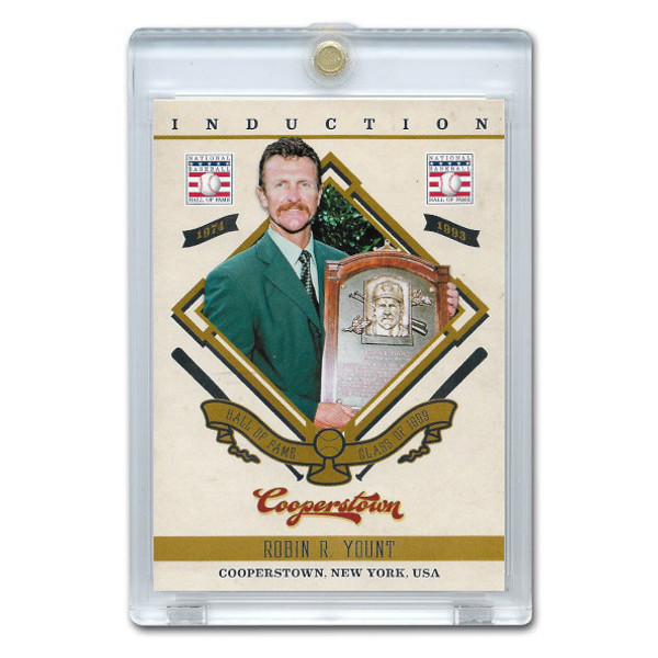 Robin Yount 2012 Panini Cooperstown Induction Card # 16