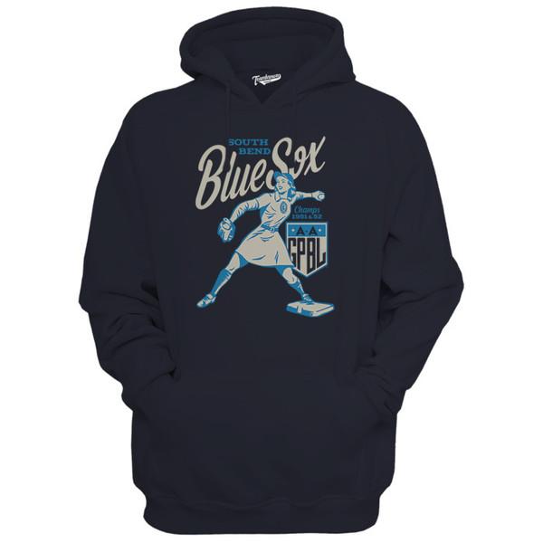 Unisex Teambrown Southbend Blue Sox Navy Diamond Hooded Sweatshirt