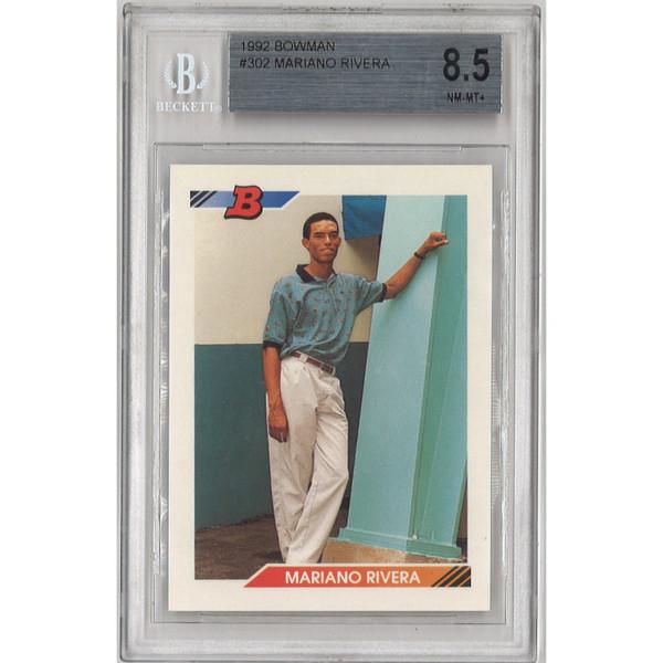 Mariano Rivera New York Yankees 1992 Bowman  # 302 Rookie Card BGS 8.5