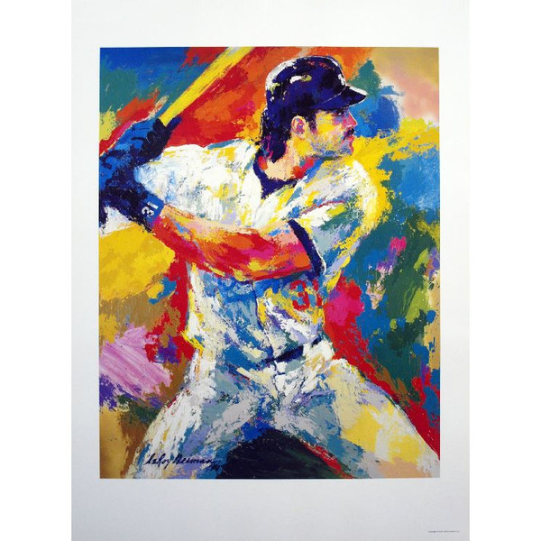 Mike Piazza By LeRoy Neiman Offset 26 x 36 Lithograph
