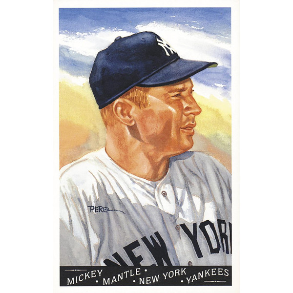 Mickey Mantle Perez-Steele Masterworks Limited Edition Postcard # 7