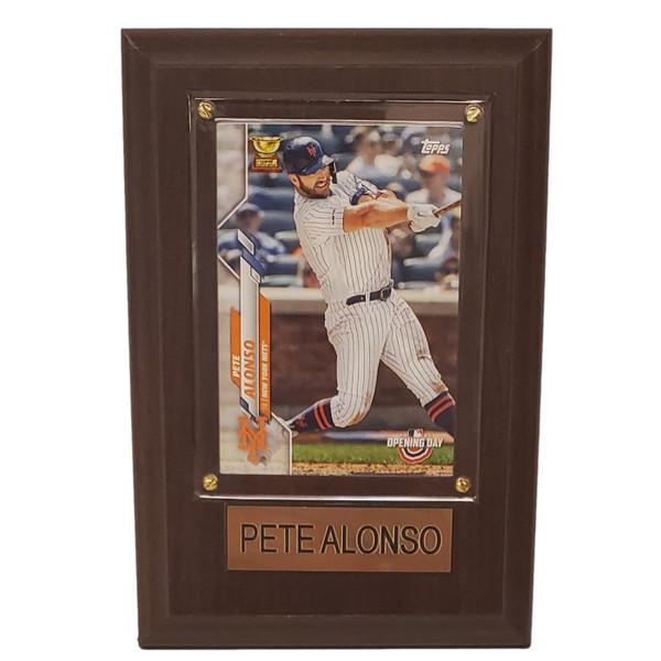 """Pete Alonso New York Mets 4"""" x 6"""" Baseball Card Plaque"""