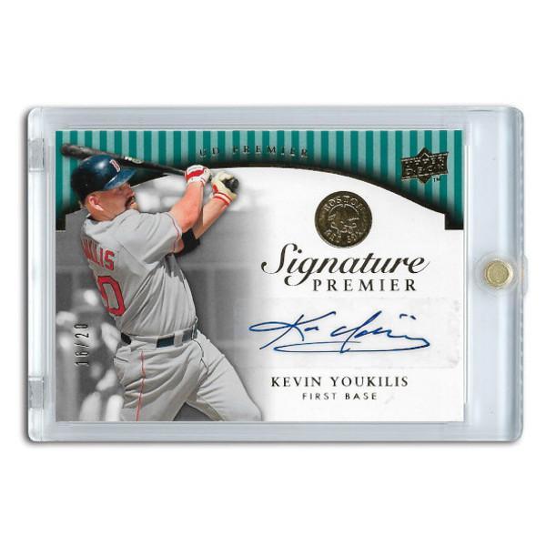 Kevin Youkilis Autographed Card 2008 Upper Deck Premier Signature Ltd Ed of 20
