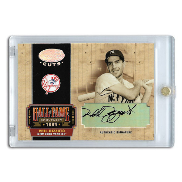 Phil Rizzuto Autographed Card 2004 Leaf Certified HOF Souvenirs Ltd Ed of 50