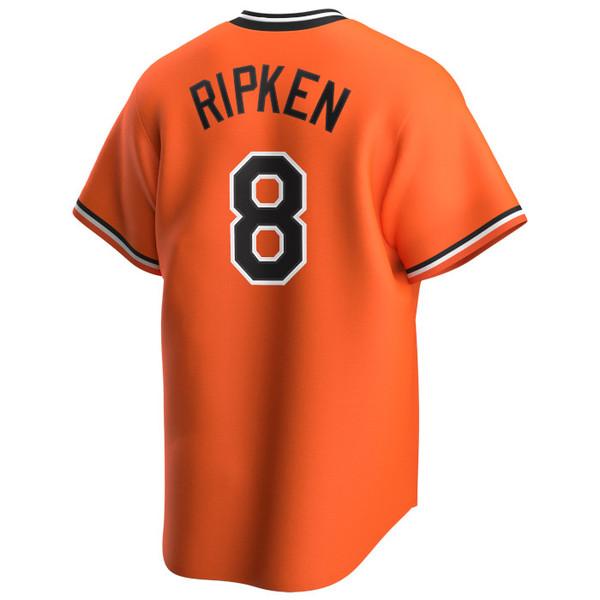 Men's Nike Cal Ripken Jr. Baltimore Orioles Cooperstown Collection Orange Jersey