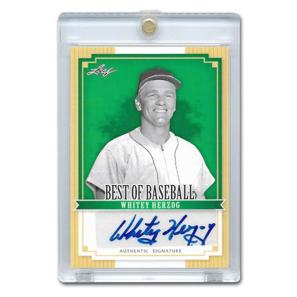 Whitey Herzog Autographed Card 2012 Leaf Baseball's Best # BA-WH1