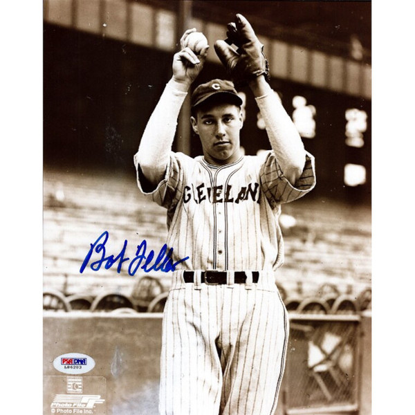Bob Feller Autographed 8x10 Photograph (PSA) - Sepia