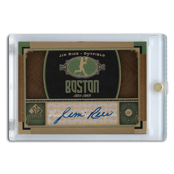 Jim Rice Autographed Card 2012 Upper Deck SP Signature Edition # BOS6