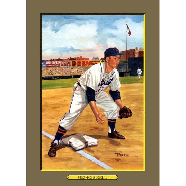 George Kell Perez-Steele Hall of Fame Great Moments Limited Edition Jumbo Postcard # 59