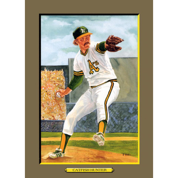 Catfish Hunter Perez-Steele Hall of Fame Great Moments Limited Edition Jumbo Postcard # 62