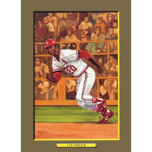 Lou Brock Perez-Steele Hall of Fame Great Moments Limited Edition Jumbo Postcard # 66