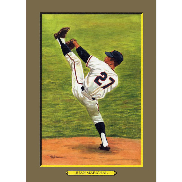 Juan Marichal Perez-Steele Hall of Fame Great Moments Limited Edition Jumbo Postcard # 56