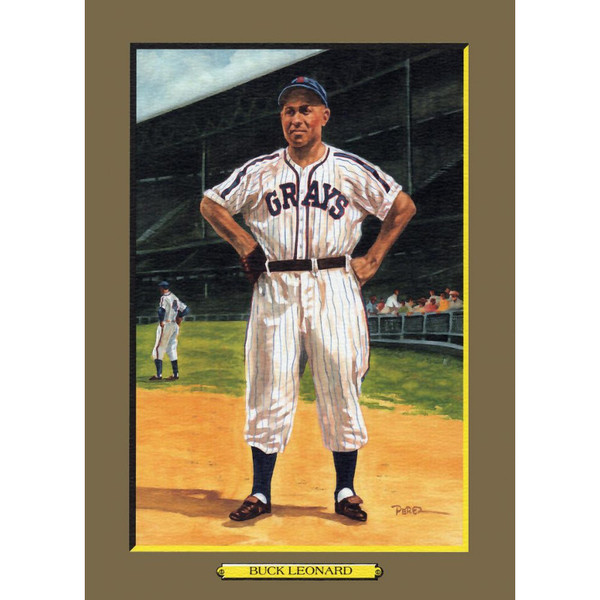 Buck Leonard Perez-Steele Hall of Fame Great Moments Limited Edition Jumbo Postcard # 58
