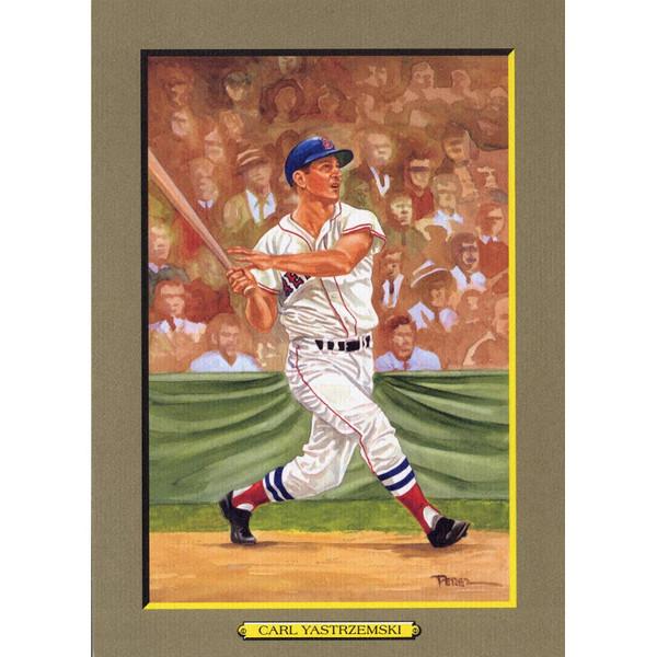 Carl Yastrzemski Perez-Steele Hall of Fame Great Moments Limited Edition Jumbo Postcard # 72
