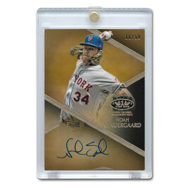 Noah Syndergaard Autographed Card 2019 Topps Tier One Talents Ltd Ed of 90