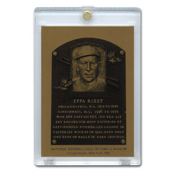 Eppa Rixey 1983 Hall of Fame Metallic Plaque Card