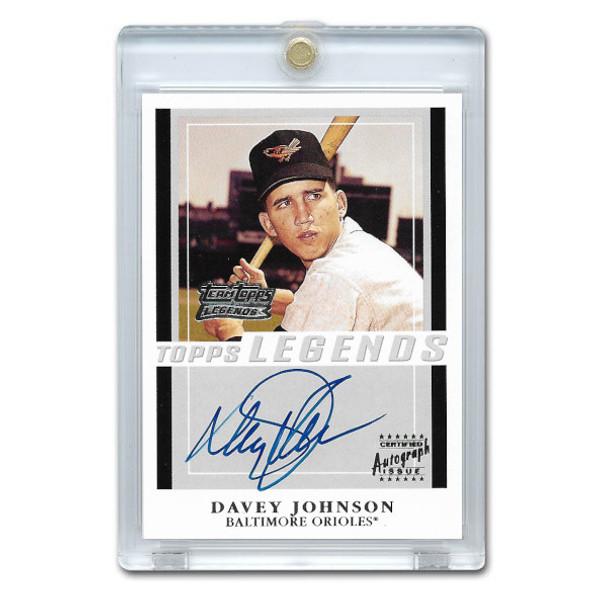 Davey Johnson Autographed Card 2001 Topps Team Legends