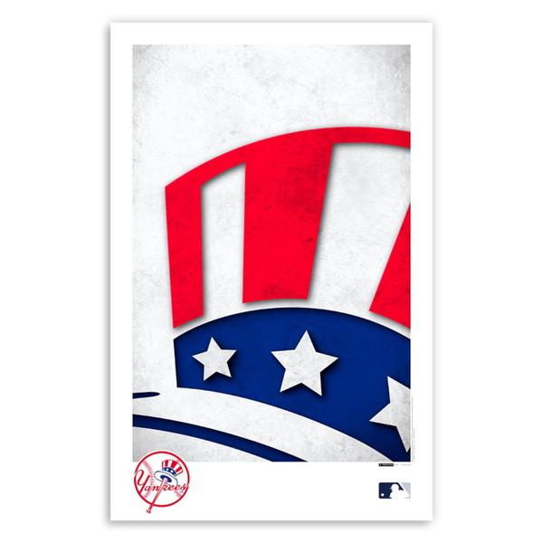 New York Yankees Minimalist Team Logo Collection 11 x 17 Fine Art Print by artist S. Preston