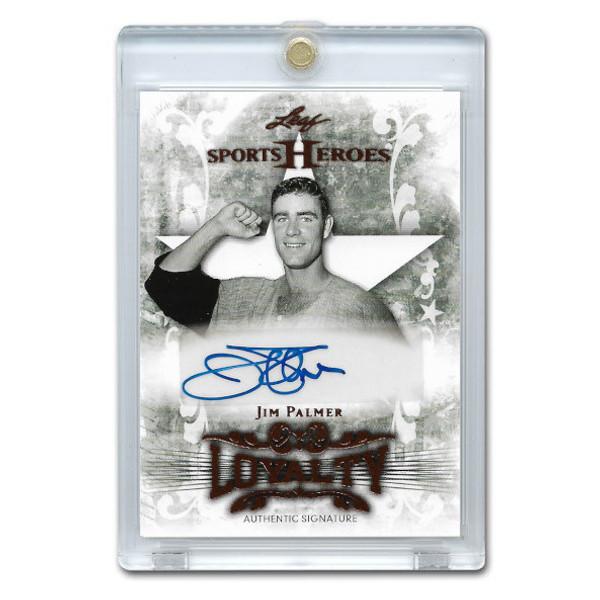 Jim Palmer Autographed Card 2013 Leaf Sports Heroes Loyalty #L-JP2