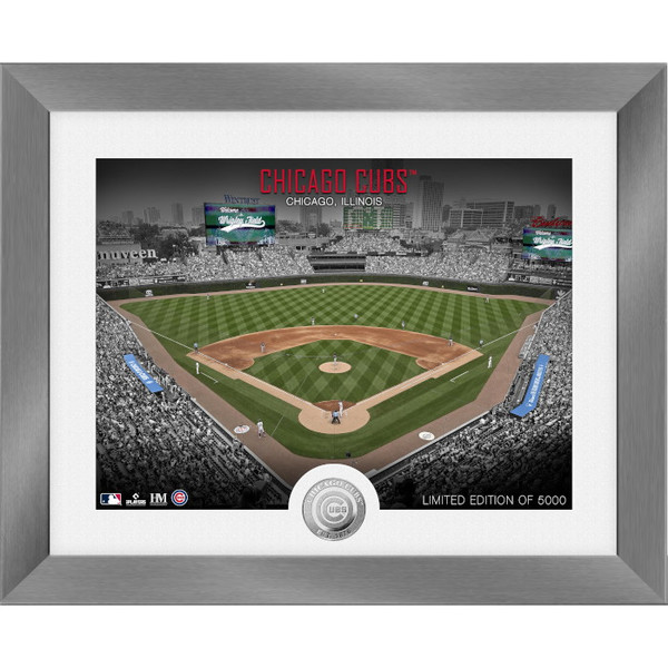 Highland Mint Chicago Cubs Art Deco Stadiums Silver Coin 13 x 16 Photo Mint