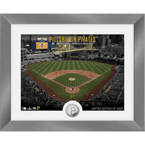Highland Mint Pittsburgh Pirates Art Deco Stadiums Silver Coin 13 x 16 Photo Mint