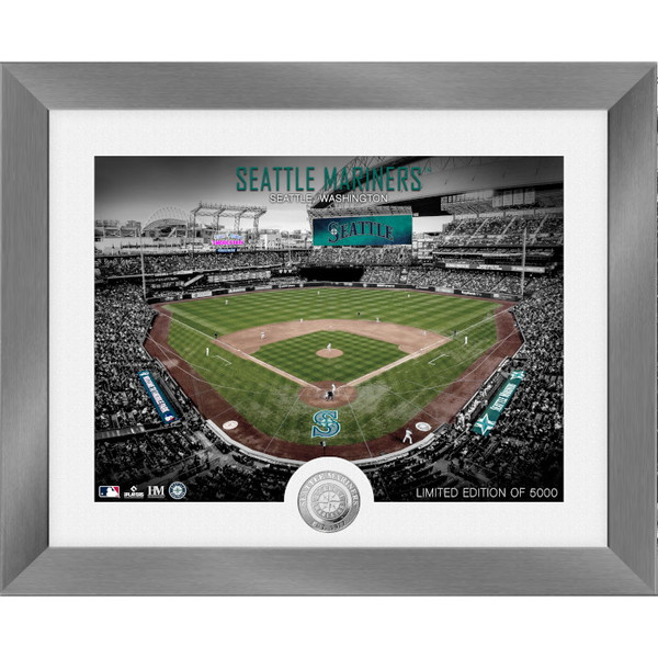 Highland Mint Seattle Mariners Art Deco Stadiums Silver Coin 13 x 16 Photo Mint